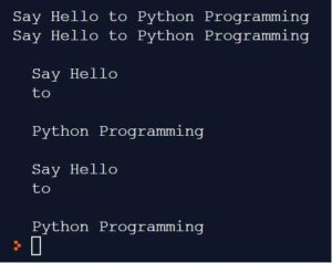 Python Strings - Creating string using single, double or triple quotes