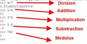 Python Operators - Addition, Division, Multiplication, Substraction, Modulus