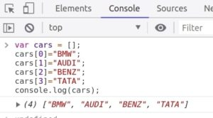 JavaScript Array inserting items into array index