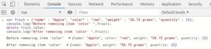 Javascript Objects remove specific property of object using delete keyword