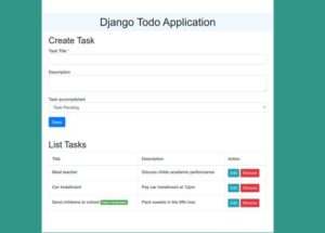 Python Django Projects - Todo Web Application Final Output