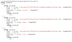 PHP get the name of calling function using debug_backtrace() function