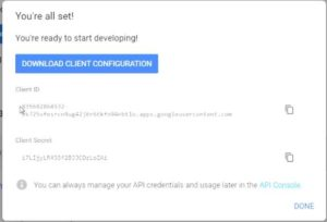 Final step is to download client configuration