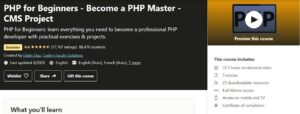 Udemy PHP Course