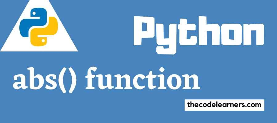 Python abs() function