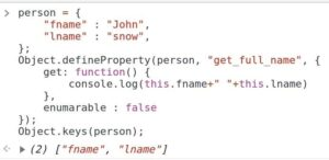 With Object.defineProperty() method