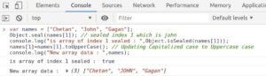 Use Object.seal() method to seal array index