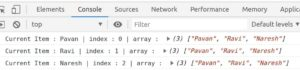 Iterating over array of items using array.map() method