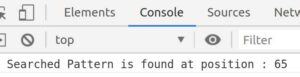 Javascript Search word in string and get its position