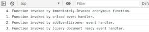 Javascript example of different on page load event handlers