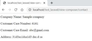 Share data throughout application using Laravel View::composer method.