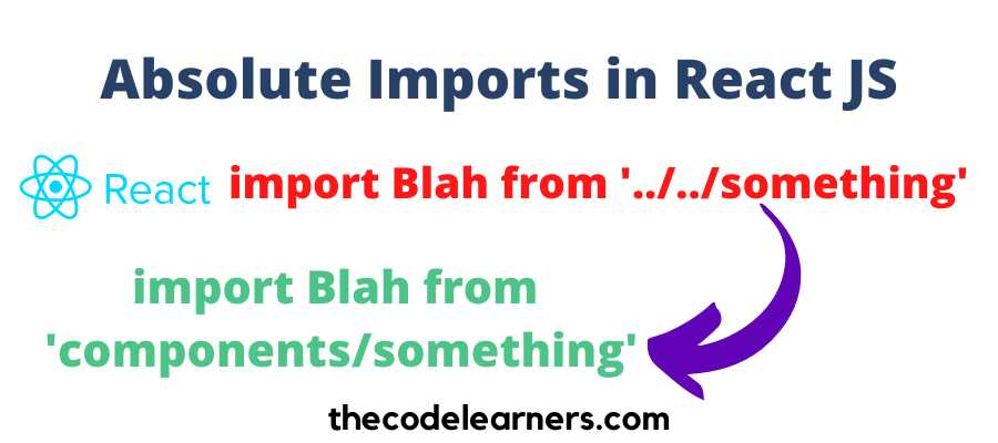 How to Import Components using Absolute Imports in React JS